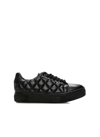 George Hogg 7004242 Kapitoneli Kadın Sneaker Siyah